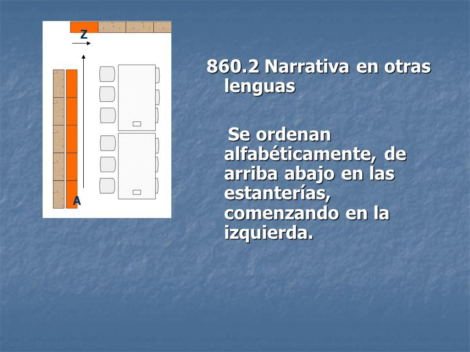 860.2 Narrativa en otras lenguas