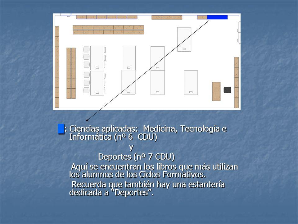 █: Ciencias aplicadas: Medicina, Tecnología e Informática (nº 6 CDU)