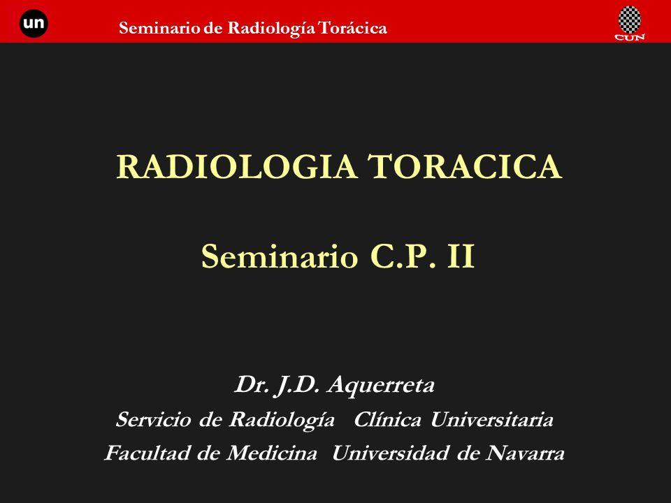 RADIOLOGIA TORACICA Seminario C.P. II