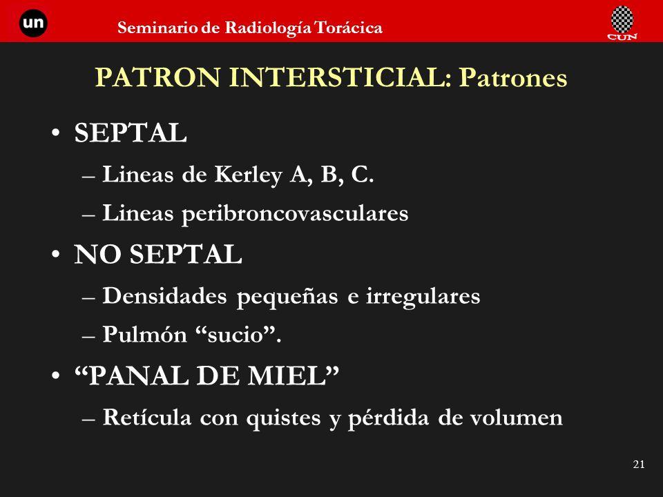 PATRON INTERSTICIAL: Patrones