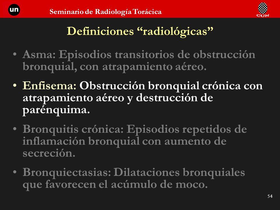 Definiciones radiológicas