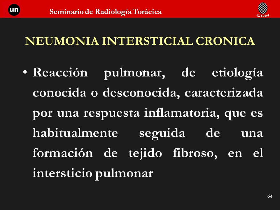 NEUMONIA INTERSTICIAL CRONICA