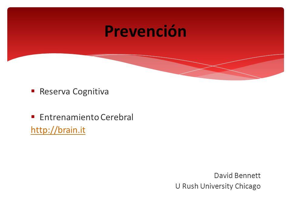 Prevención Reserva Cognitiva Entrenamiento Cerebral http://brain.it