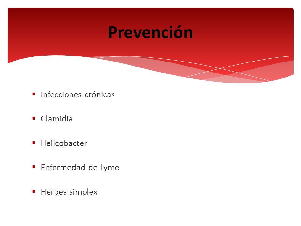 Prevención Infecciones crónicas Clamidia Helicobacter