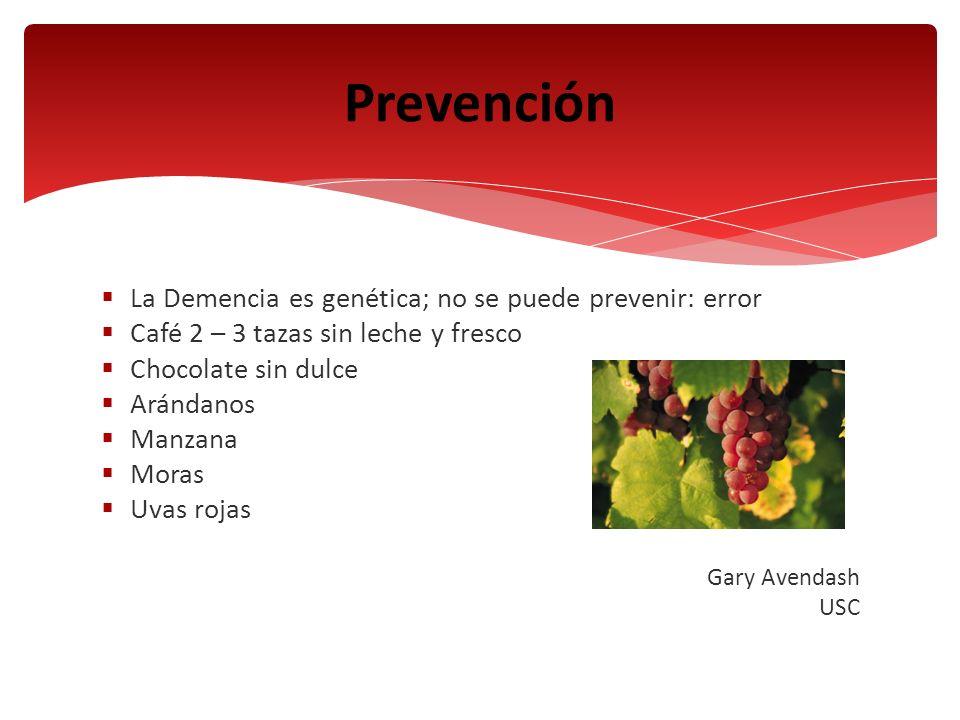 Prevención La Demencia es genética; no se puede prevenir: error