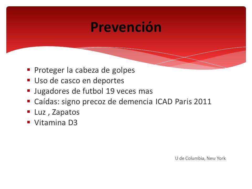 Prevención Proteger la cabeza de golpes Uso de casco en deportes