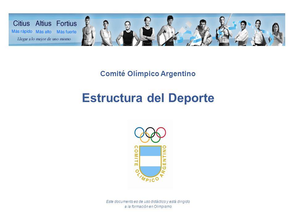 Comité Olímpico Argentino Estructura del Deporte