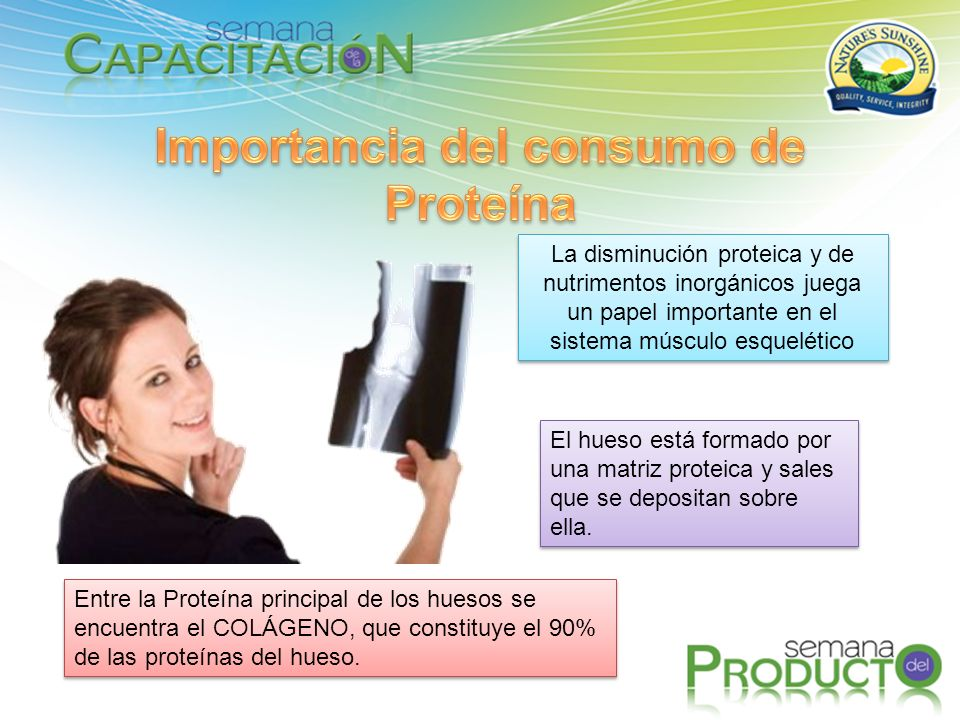 Importancia del consumo de Proteína