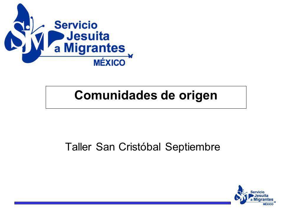 Taller San Cristóbal Septiembre