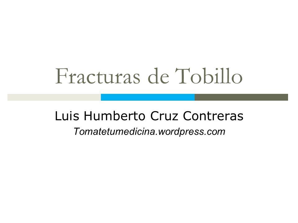 Luis Humberto Cruz Contreras Tomatetumedicina.wordpress.com