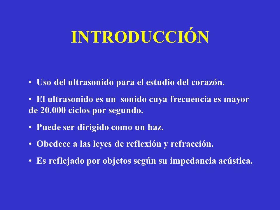 INTRODUCCIÓN Uso del ultrasonido para el estudio del corazón.