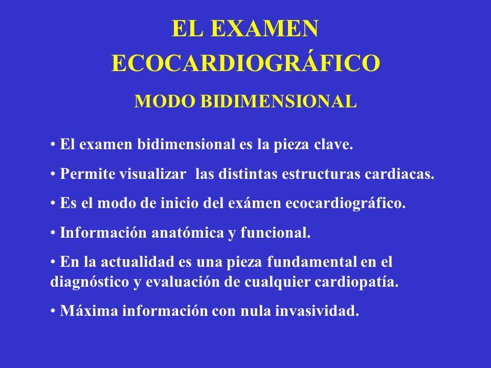 EL EXAMEN ECOCARDIOGRÁFICO MODO BIDIMENSIONAL