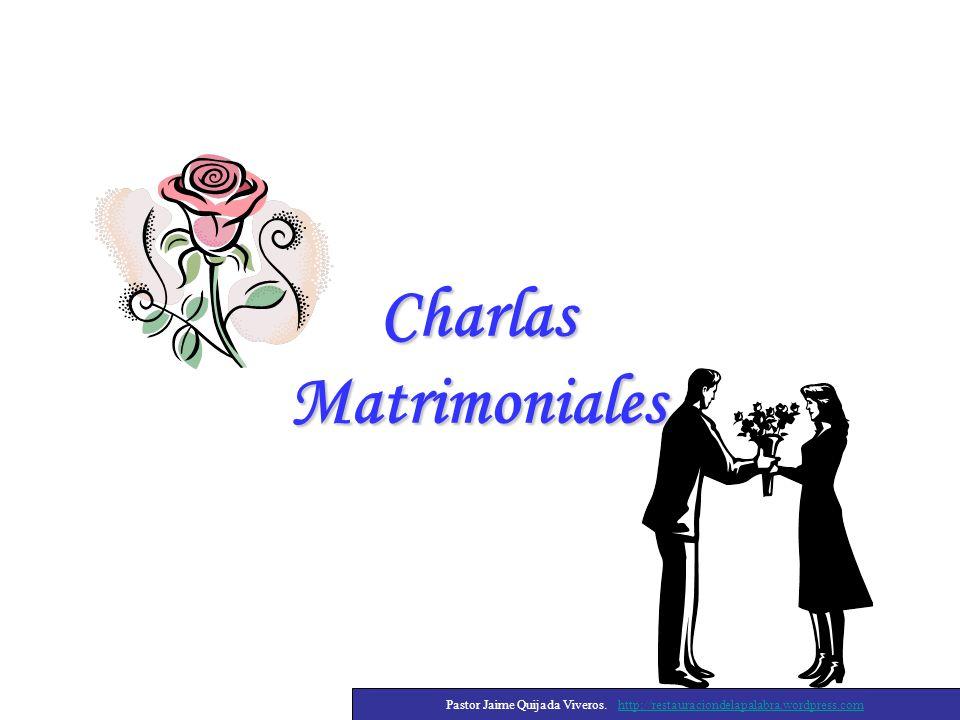 Charlas Matrimoniales