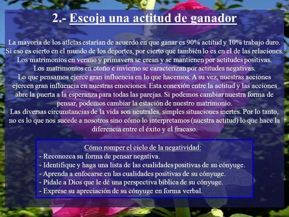 2.- Escoja una actitud de ganador