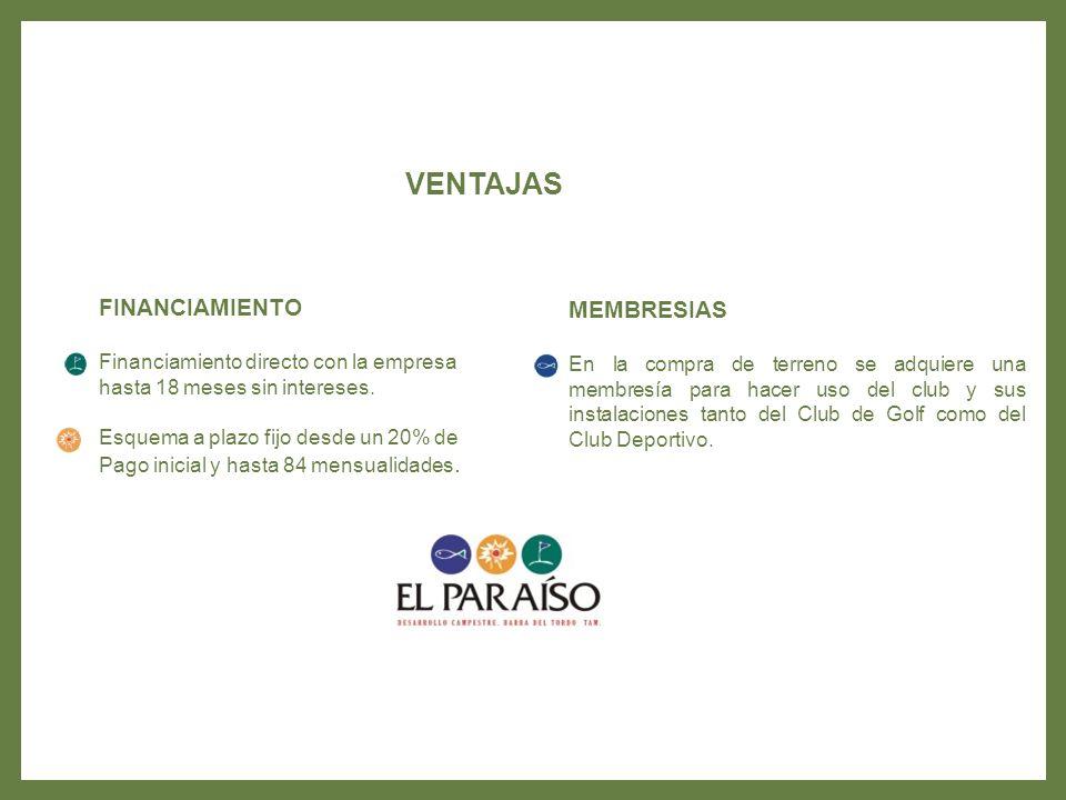 VENTAJAS FINANCIAMIENTO MEMBRESIAS