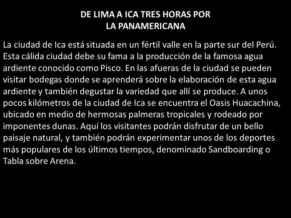 DE LIMA A ICA TRES HORAS POR