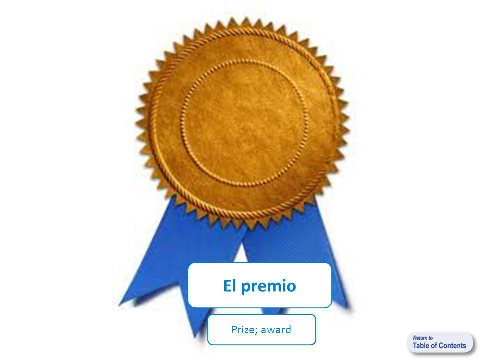 El premio Prize; award