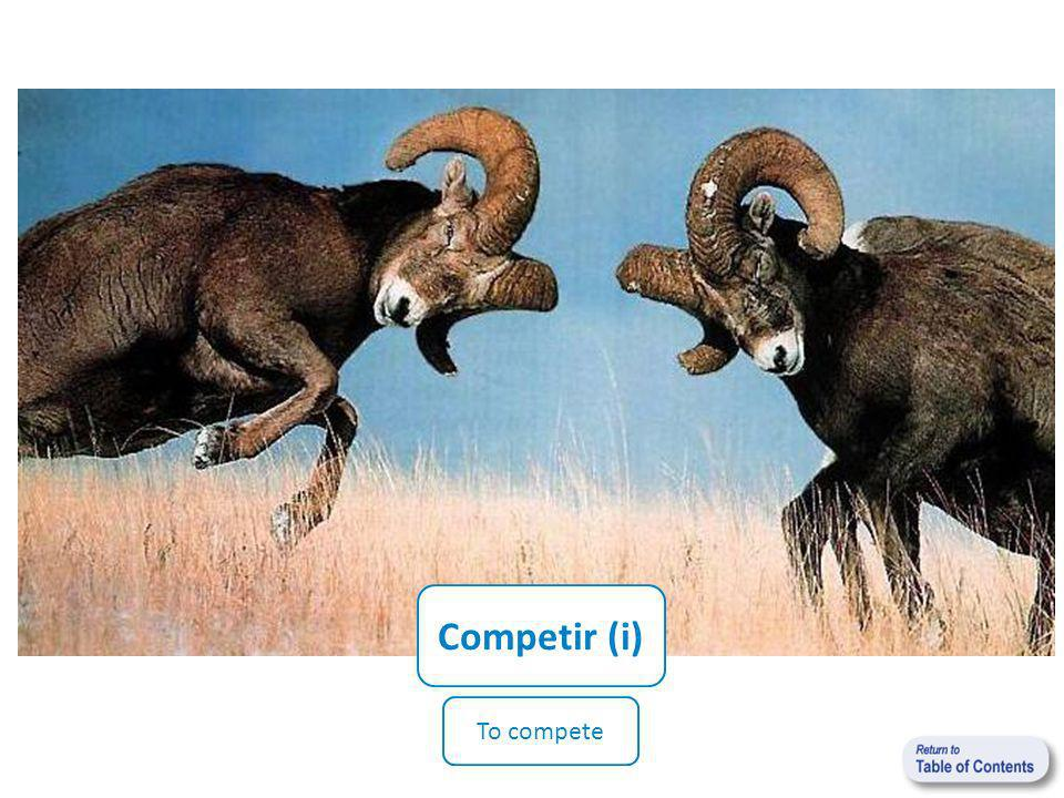 Competir (i) To compete
