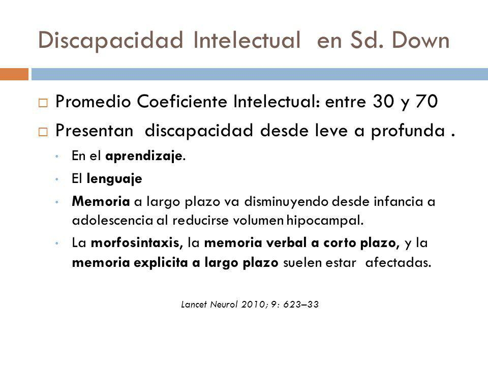 Discapacidad Intelectual en Sd. Down