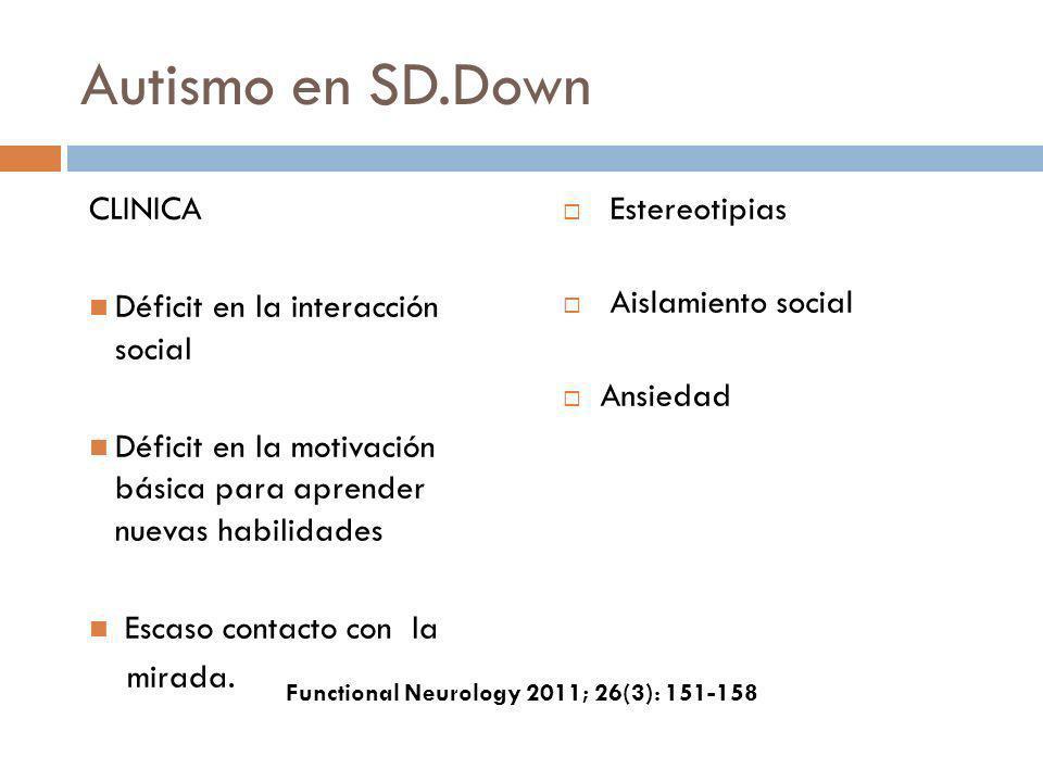 Autismo en SD.Down CLINICA Déficit en la interacción social