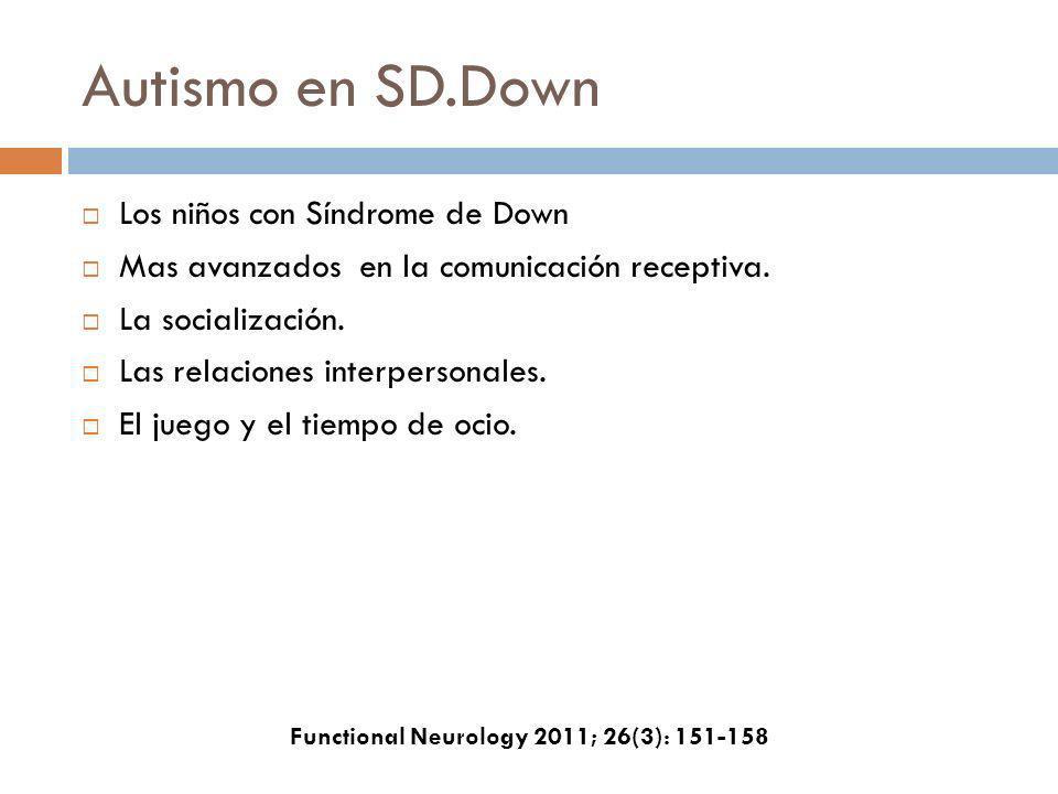 Autismo en SD.Down Los niños con Síndrome de Down