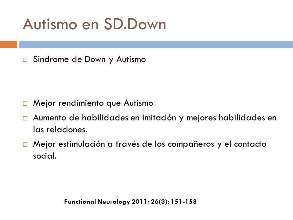 Autismo en SD.Down Sindrome de Down y Autismo
