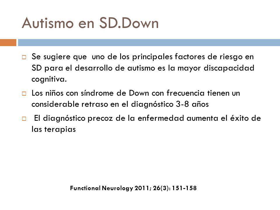 Autismo en SD.Down