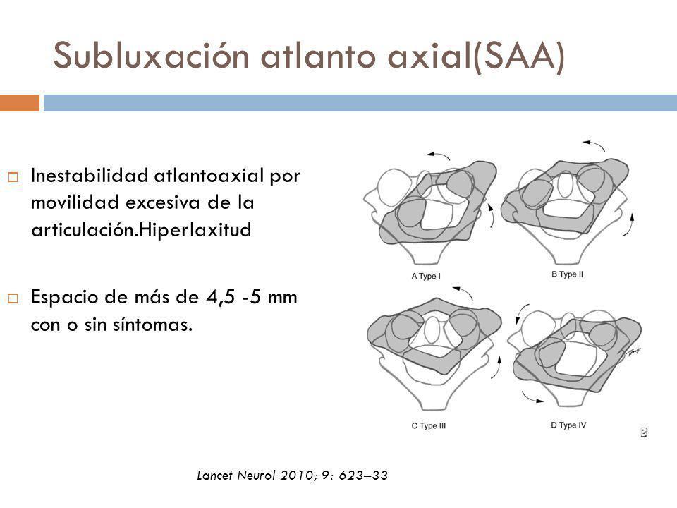 Subluxación atlanto axial(SAA)