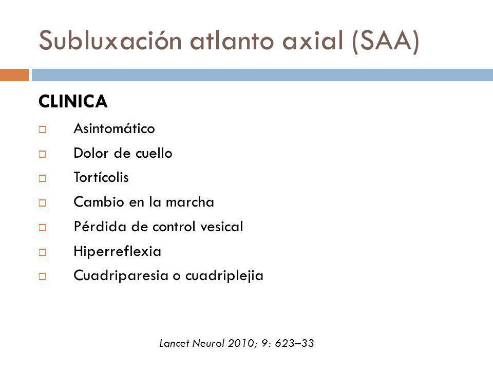 Subluxación atlanto axial (SAA)