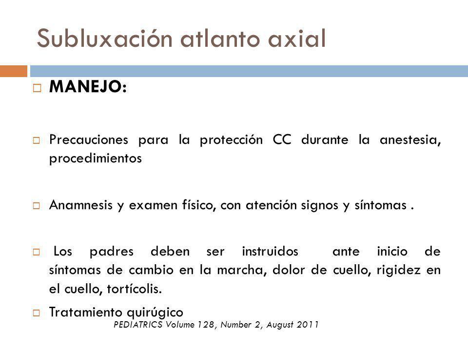 Subluxación atlanto axial