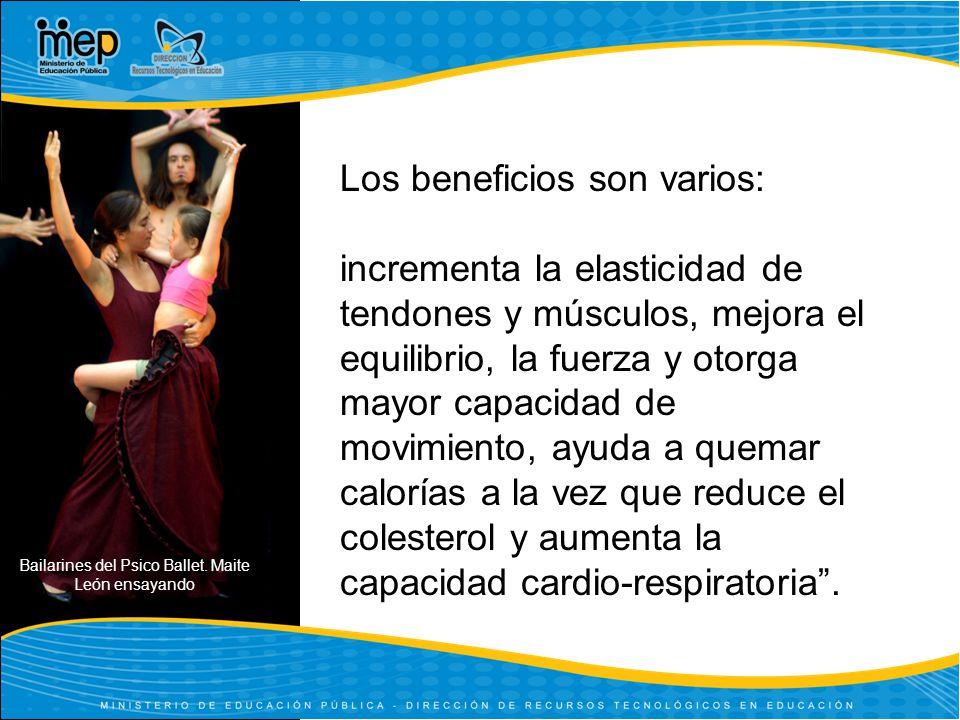 Bailarines del Psico Ballet. Maite León ensayando