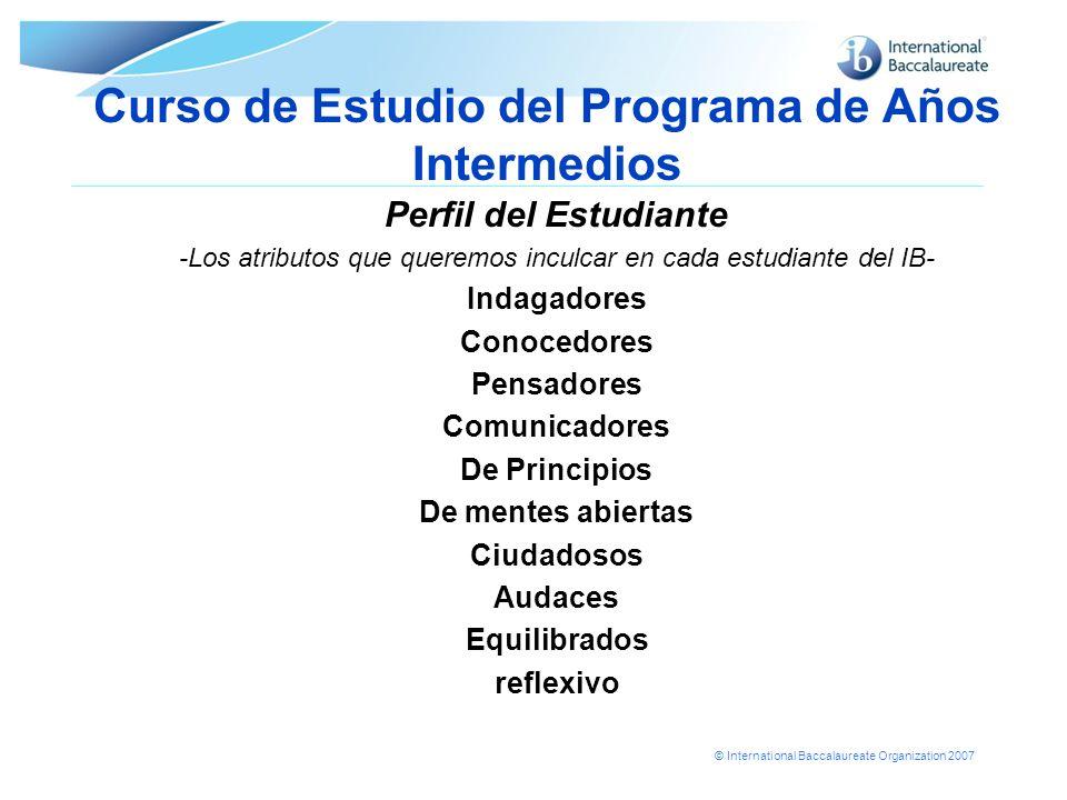 Curso de Estudio del Programa de Años Intermedios