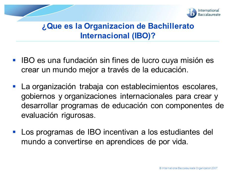 ¿Que es la Organizacion de Bachillerato Internacional (IBO)