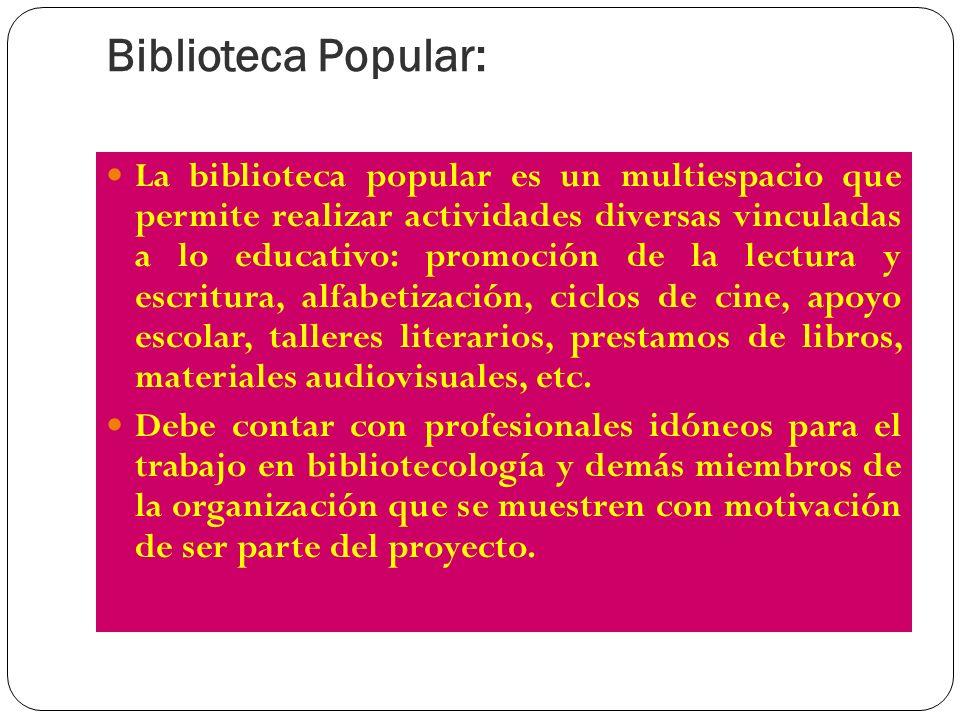 Biblioteca Popular: