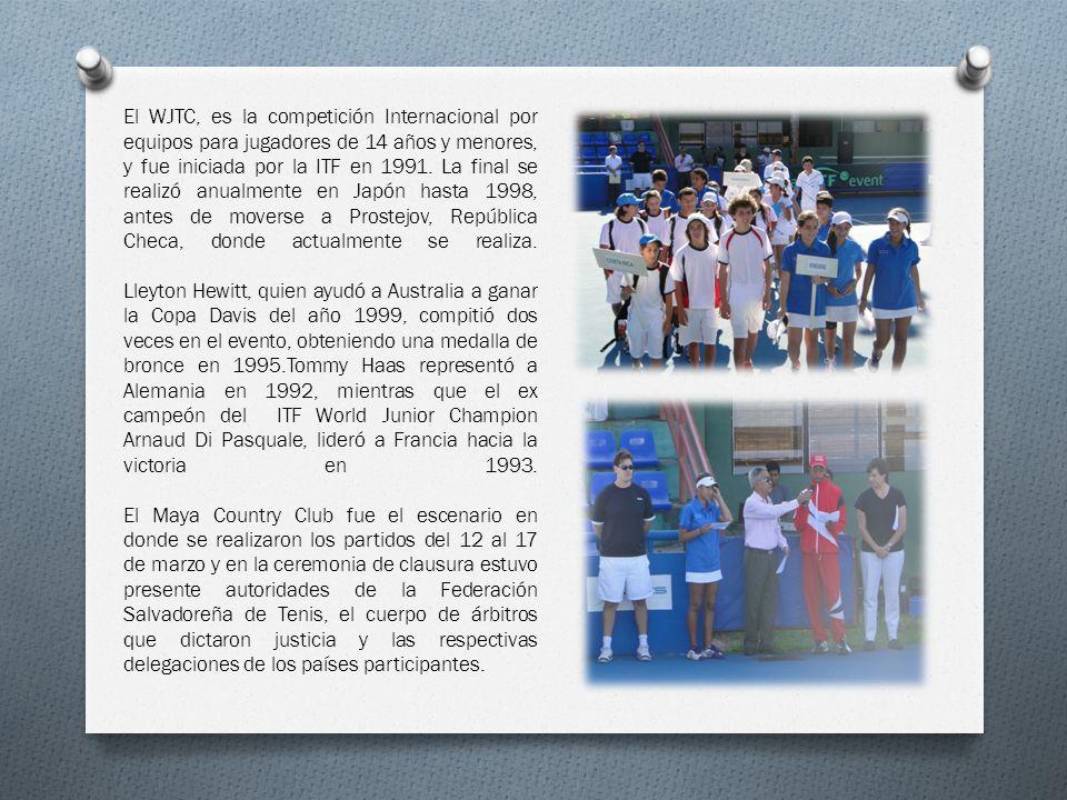 El WJTC, es la competición Internacional por equipos para jugadores de 14 años y menores, y fue iniciada por la ITF en 1991. La final se realizó anualmente en Japón hasta 1998, antes de moverse a Prostejov, República Checa, donde actualmente se realiza.