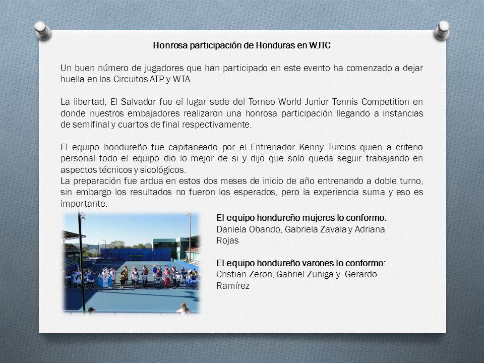 Honrosa participación de Honduras en WJTC