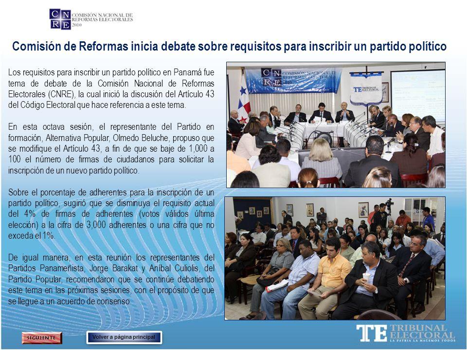 Comisión de Reformas inicia debate sobre requisitos para inscribir un partido político