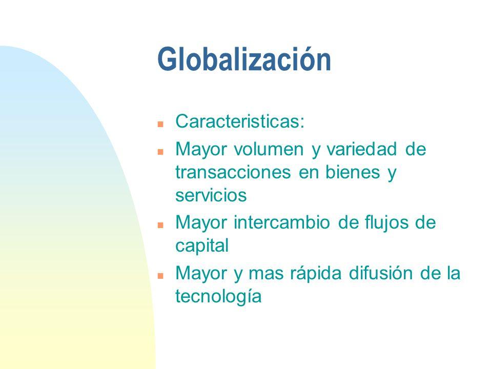 Globalización Caracteristicas: