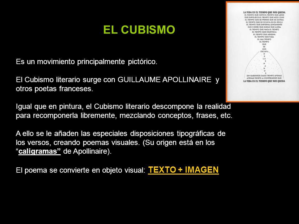EL CUBISMO Es un movimiento principalmente pictórico.