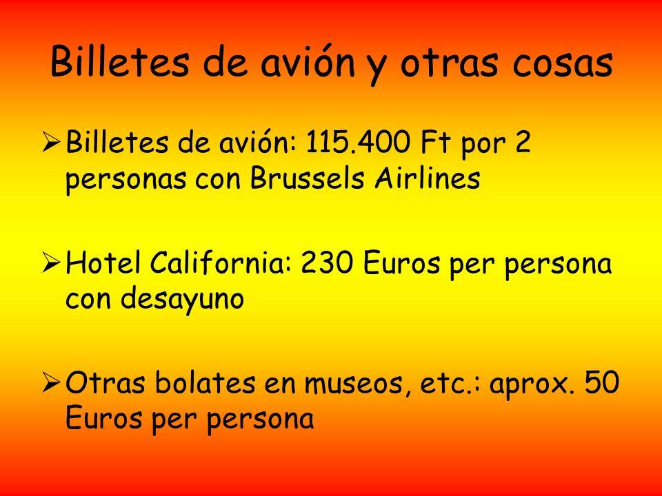 Billetes de avión y otras cosas
