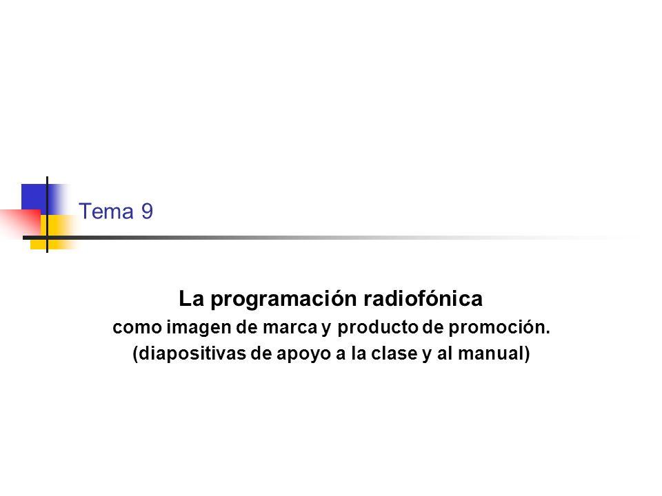 La programación radiofónica