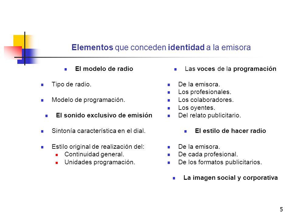 Elementos que conceden identidad a la emisora
