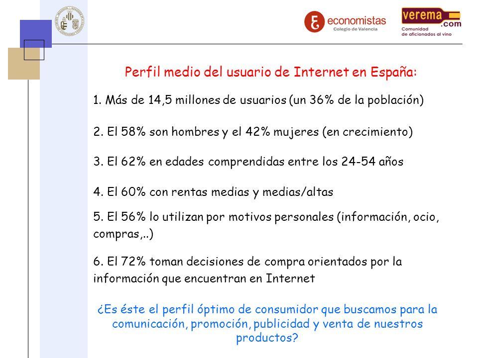 Perfil medio del usuario de Internet en España:
