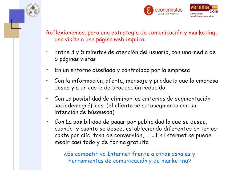Reflexionemos, para una estrategia de comunicación y marketing, una visita a una página web implica: