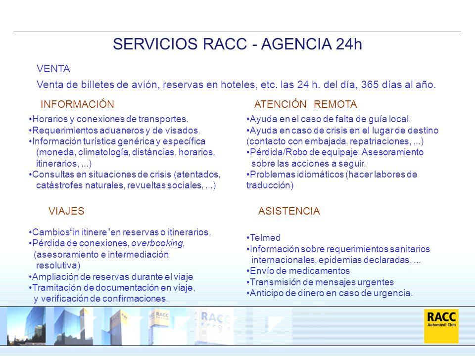 SERVICIOS RACC - AGENCIA 24h