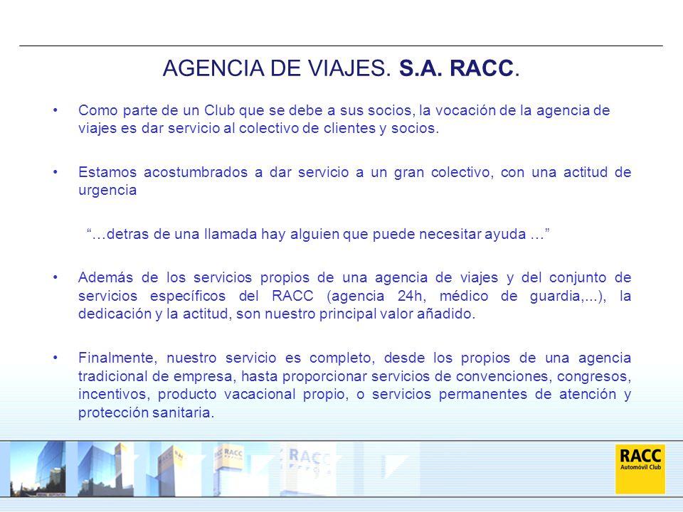AGENCIA DE VIAJES. S.A. RACC.