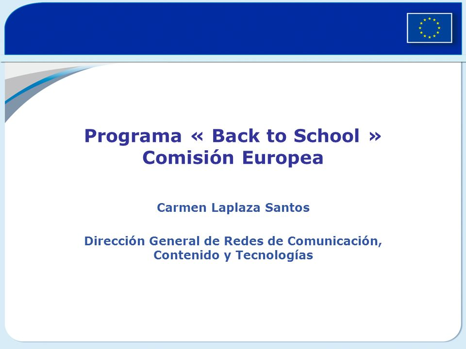 Programa « Back to School » Comisión Europea