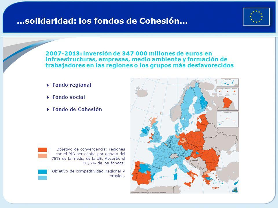 …solidaridad: los fondos de Cohesión…