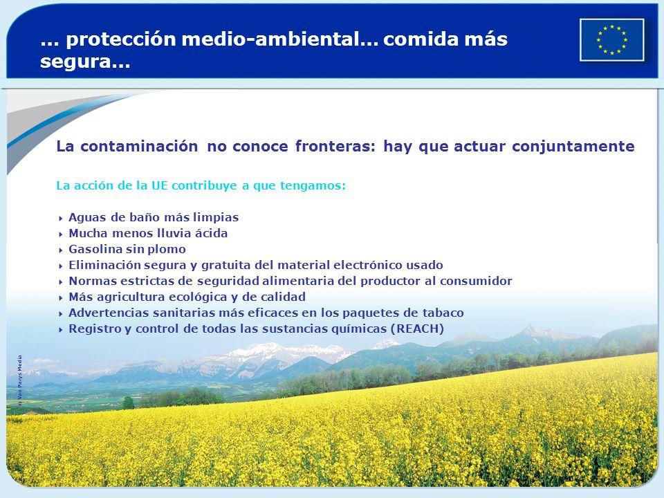 … protección medio-ambiental… comida más segura…