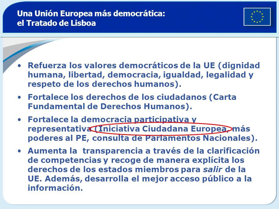 Una Unión Europea más democrática: el Tratado de Lisboa